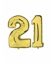 21 jaar jublileum ballonnen goud
