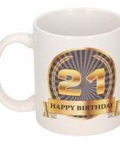 21e verjaardag koffiemok beker 300 ml