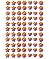 231x regenboog figuren stickers met 3d effect met zacht kunstst