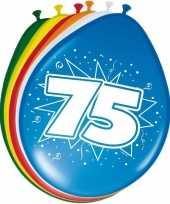 24x ballonnen 75 jaar 30 cm