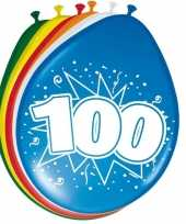 24x stuks ballonnen 100 jaar 30 cm
