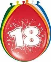 24x stuks ballonnen 18 jaar 30 cm