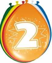24x stuks ballonnen 2 jaar 30 cm