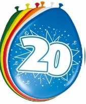 24x stuks ballonnen 20 jaar 30 cm