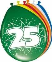 24x stuks ballonnen 25 jaar 30 cm