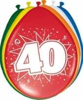 24x stuks ballonnen 40 jaar 30 cm