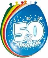 24x stuks ballonnen 50 jaar abraham 30 cm