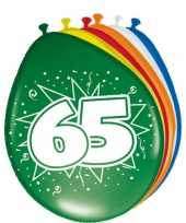 24x stuks ballonnen 65 jaar 30 cm