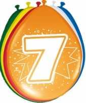 24x stuks ballonnen 7 jaar 30 cm