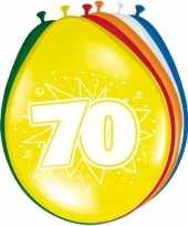 24x stuks ballonnen 70 jaar 30 cm