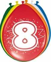 24x stuks ballonnen 8 jaar 30 cm