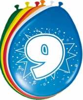 24x stuks ballonnen 9 jaar 30 cm