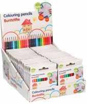 25x pakjes mini kleurpotloden setje van 12 stuks
