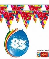 2x 85 jaar vlaggenlijn ballonnen