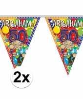 2x abraham vlaggetjes lijn van 10 meter lang