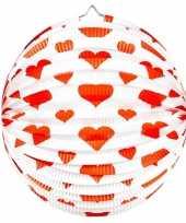 2x bol lampion hart rond 36 cm