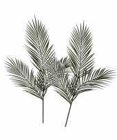 2x groene areca goudpalm kunsttakken kunstplanten 199 cm