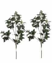 2x groene hedera klimop kunsttakken kunstplanten 55 cm