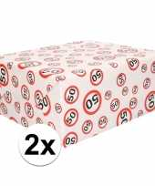 2x inpakpapier cadeaupapier 50 jaar 300 x 70 cm op rol