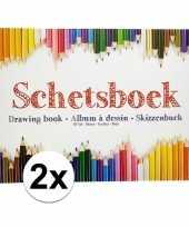 2x schetsboeken tekenboeken a4 formaat 80 vellen