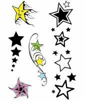 2x velltjes sterren tattoos 5 stuks per vel