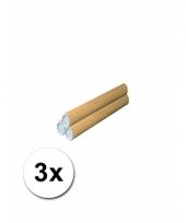3 handwerk kokers van karton 31x4 cm