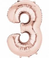3 jaar geworden cijfer ballon rose goud