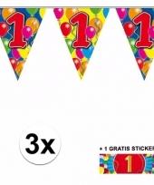 3 vlaggenlijnen 1 jaar met gratis sticker