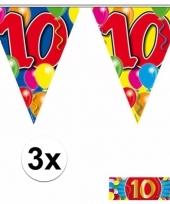 3 vlaggenlijnen 10 jaar met gratis sticker