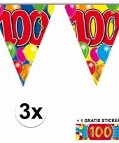 3 vlaggenlijnen 100 jaar met gratis sticker