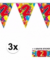 3 vlaggenlijnen 2 jaar met gratis sticker