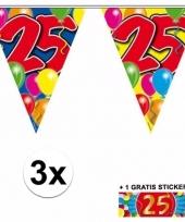3 vlaggenlijnen 25 jaar met gratis sticker