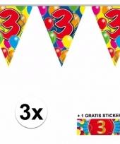 3 vlaggenlijnen 3 jaar met gratis sticker