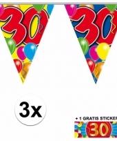 3 vlaggenlijnen 30 jaar met gratis sticker