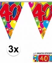 3 vlaggenlijnen 40 jaar met gratis sticker