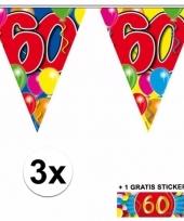 3 vlaggenlijnen 60 jaar met gratis sticker