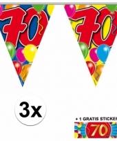 3 vlaggenlijnen 70 jaar met gratis sticker