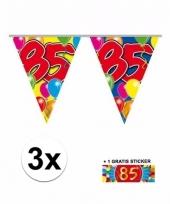 3 vlaggenlijnen 85 jaar met gratis sticker