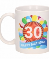 30 jaar cadeau beker 300 ml ballon thema