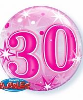 30 jaar feest folie ballon gevuld met helium 10089064