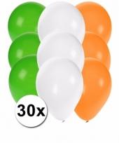 30x ballonnen in ierse kleuren 10087275