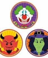 30x halloween onderzetters duivel heks horror clown