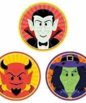 30x halloween onderzetters duivel heks vampier