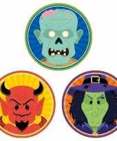 30x halloween onderzetters duivel heks zombie