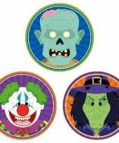 30x halloween onderzetters horror clown heks zombie