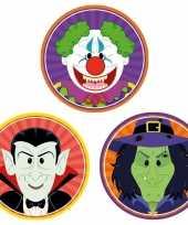 30x halloween onderzetters vampier heks horror clown