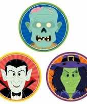 30x halloween onderzetters vampier heks zombie