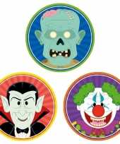 30x halloween onderzetters vampier horror clown zombie