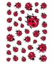333x lieveheersbeestje dieren stickers