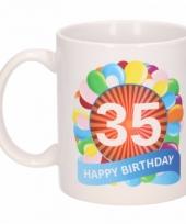 35 jaar cadeau beker 300 ml ballon thema